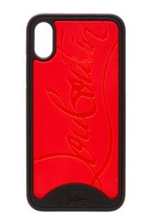Контрастный чехол для iPhone X Christian Louboutin
