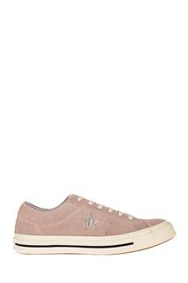 Розовые кеды из замши Converse