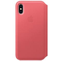 Чехол Apple iPhone XS Leather Folio Peony Pink