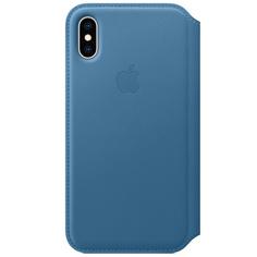 Чехол Apple iPhone XS Leather Folio Cape Cod Blue