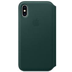 Чехол Apple iPhone XS Leather Folio Forest Green