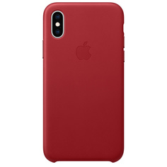 Чехол Apple iPhone XS Max Leather Case (PRODUCT)RED