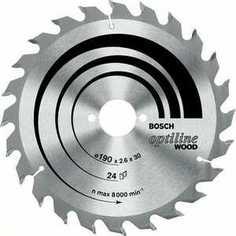 Диск пильный Bosch 160х20/16мм 36зубьев Optiline Wood (2.608.640.597)