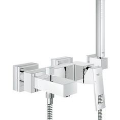 Смеситель для ванны Grohe Eurocube с душевым гарнитуром (23141000)