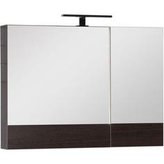 Зеркальный шкаф Aquanet Нота/Тоника 90 венге (камерино) (159110)
