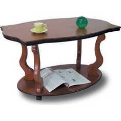 Стол журнальный Мебелик Берже 3 средне-коричневый