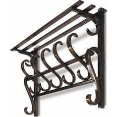 Вешалка настенная Мебелик В 7Н тёмно-коричневый