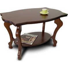 Стол журнальный Мебелик Берже 3 тёмно-коричневый