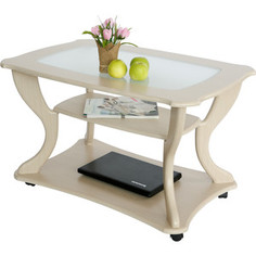 Стол журнальный Калифорния мебель Маэстро СЖС-02 со стеклом дуб