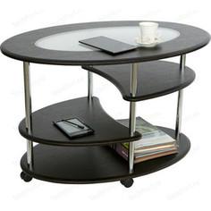 Стол журнальный Калифорния мебель Эллипс со стеклом СЖС-01 венге