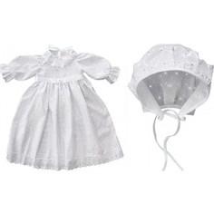 Крестильный комплект Золотой гусь платье и чепчик 11241/62
