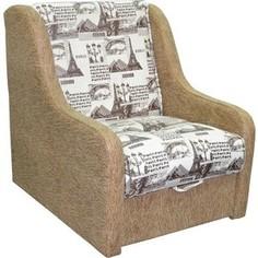 Кресло-кровать Mebel Ars Аккорд - газета коричневая ППУ