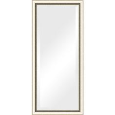 Зеркало с фацетом в багетной раме поворотное Evoform Exclusive 73x163 см, состаренное серебро с плетением 70 мм (BY 1202)