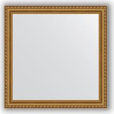 Зеркало в багетной раме Evoform Definite 74x74 см, золотой акведук 61 мм (BY 1028)