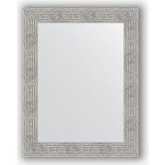 Зеркало в багетной раме поворотное Evoform Definite 70x90 см, волна хром 90 мм (BY 3185)