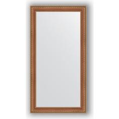 Зеркало в багетной раме поворотное Evoform Definite 55x105 см, бронзовые бусы на дереве 60 мм (BY 3075)
