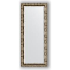 Зеркало с фацетом в багетной раме поворотное Evoform Exclusive 63x153 см, серебрянный бамбук 73 мм (BY 1186)