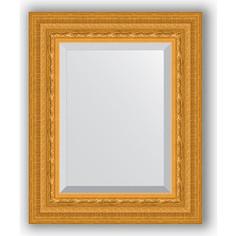 Зеркало с фацетом в багетной раме Evoform Exclusive 45x55 см, сусальное золото 80 мм (BY 1366)