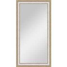 Зеркало в багетной раме поворотное Evoform Definite 55x105 см, золотые бусы на серебре 60 мм (BY 1057)