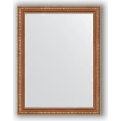 Зеркало в багетной раме поворотное Evoform Definite 65x85 см, бронзовые бусы на дереве 60 мм (BY 3171)
