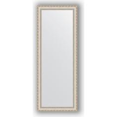 Зеркало в багетной раме поворотное Evoform Definite 55x145 см, версаль серебро 64 мм (BY 3110)