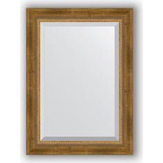 Зеркало с фацетом в багетной раме поворотное Evoform Exclusive 53x73 см, состаренное бронза с плетением 70 мм (BY 3380)