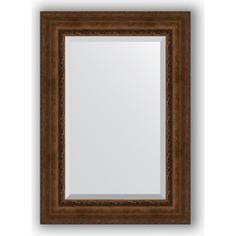 Зеркало с фацетом в багетной раме поворотное Evoform Exclusive 72x102 см, состаренная бронза с орнаментом 120 мм (BY 3455)