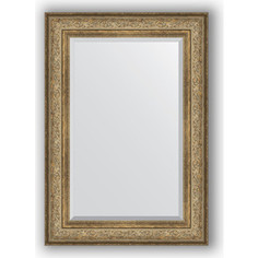 Зеркало с фацетом в багетной раме поворотное Evoform Exclusive 70x100 см, виньетка античная бронза 109 мм (BY 3451)