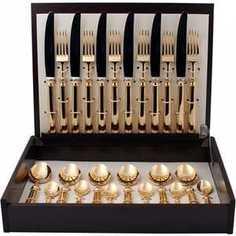 Набор столовых приборов Cutipol Piccadilly gold из 24-х предметов 9141