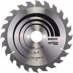 Диск пильный Bosch 190х30мм 24зуба Optiline Wood (2.608.641.185)
