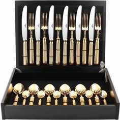 Набор столовых приборов Cutipol Line gold из 24-х предметов 9171