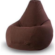 Кресло-мешок POOFF Коричневое микровельвет XL
