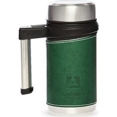 Термокружка 0.5 л Арктика с ручкой в коже (406-500 зелёный)