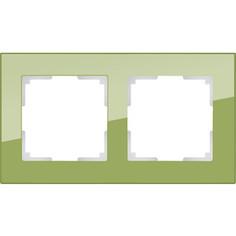 Рамка Werkel Favorit на 2 поста фисташковый WL01-Frame-02