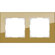 Рамка Werkel Favorit на 2 поста бронзовый WL01-Frame-02