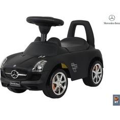 RT 332Р Каталка-автомобиль Mercedes-Benz с музыкой - черный матовый