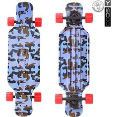 RT 408-Ba Скейтборд Longboard Shark TIR 31 пластик 79х22 с сумкой Blue Army BLUE/red