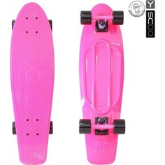 RT 402-P Скейтборд Big Fishskateboard 27 винил 68,6х19 с сумкой PINK/black