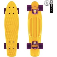RT 401-Y Скейтборд Fishskateboard 22 винил 56,6х15 с сумкой YELLOW/dark purple
