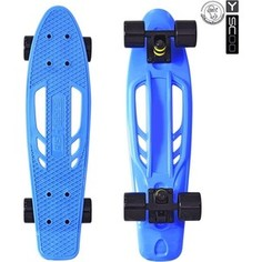 RT 405-B Скейтборд Skateboard Fishbone с ручкой 22 винил 56,6х15 с сумкой BLUE/black