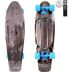 RT 402H-Bb Скейтборд Big Fishskateboard metallic 27 винил 68,6х19 с сумкой BLACK BRONZAT/blue