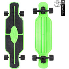 RT 408-G Скейтборд Longboard Shark TIR 31 пластик 79х22 с сумкой GREEN/black