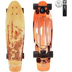 RT 402H-O Скейтборд Big Fishskateboard metallic 27 винил 68,6х19 с сумкой ORANGE/black