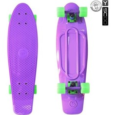 RT 402-Pr Скейтборд Big Fishskateboard 27 винил 68,6х19 с сумкой PURPLE/green
