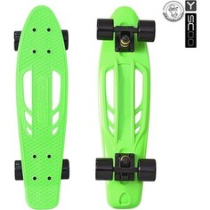 Скейтборд RT 405-G Skateboard Fishbone с ручкой 22 винил 56,6х15 с сумкой GREEN/black