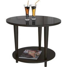 Стол журнальный Мебелик BeautyStyle 10 венге/стекло черное