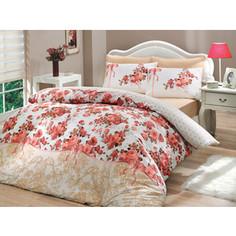 Комплект постельного белья Hobby home collection Евро, ранфорс, Felicita, розовый (1501000224)