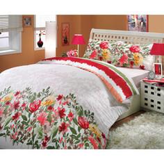 Комплект постельного белья Hobby home collection Евро, ранфорс, Lilian, красный (1501000254)