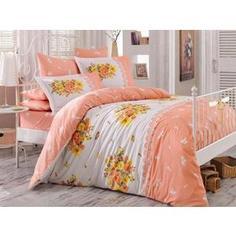 Комплект постельного белья Hobby home collection Евро, поплин, Alvis , персиковый (1501000922)