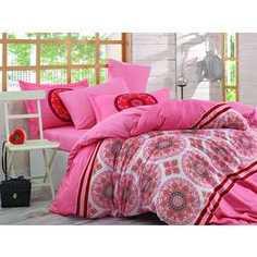 Комплект постельного белья Hobby home collection 1,5 сп, поплин, Silvana, коралловый (1501001097)